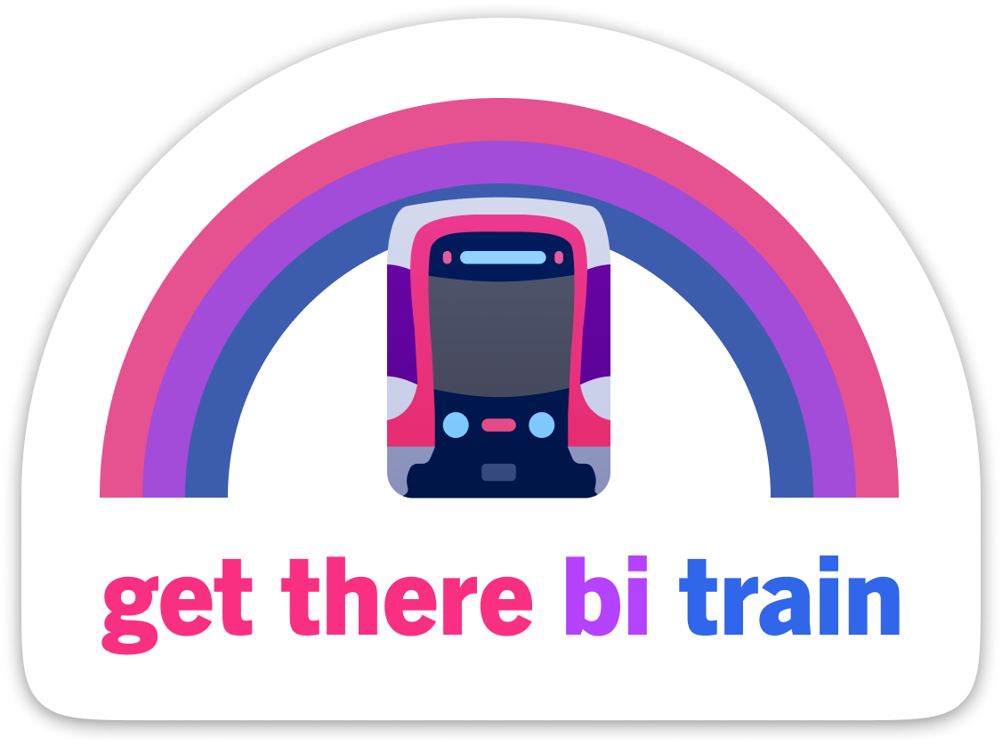 Get There Bi Train Sticker – Muni Metro