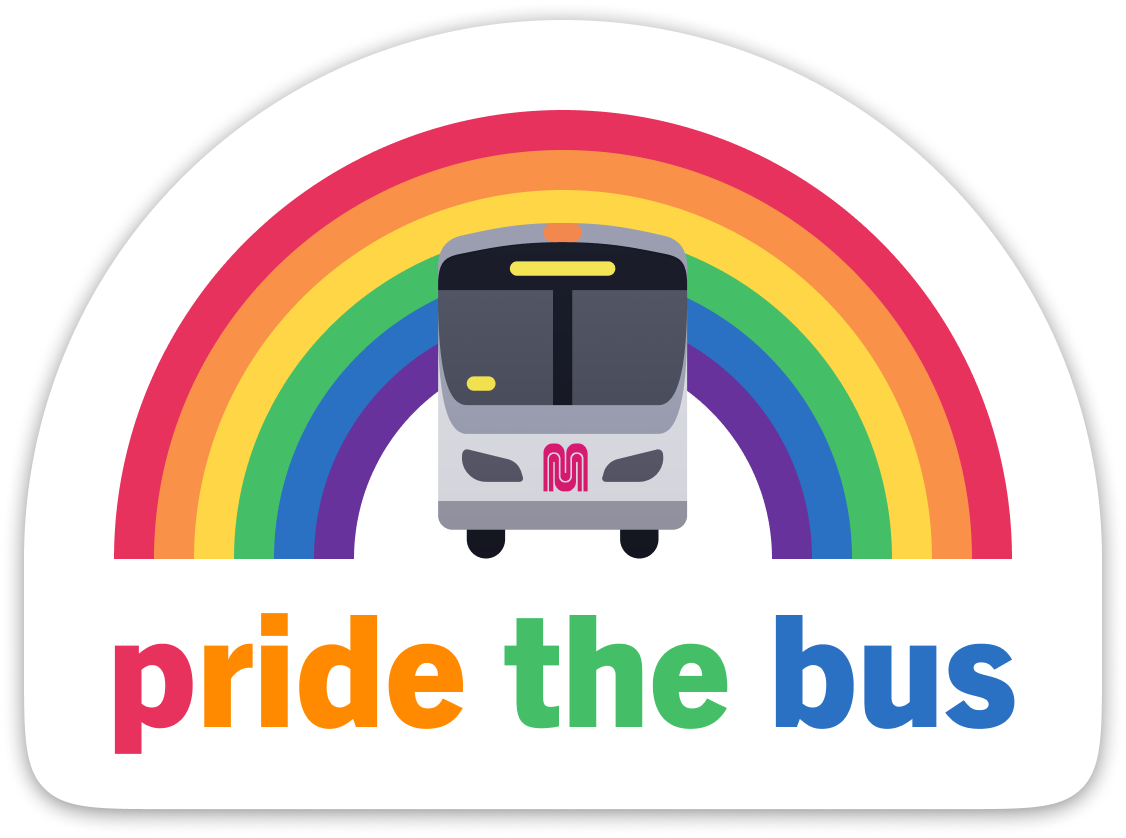 Pride the Bus Sticker
