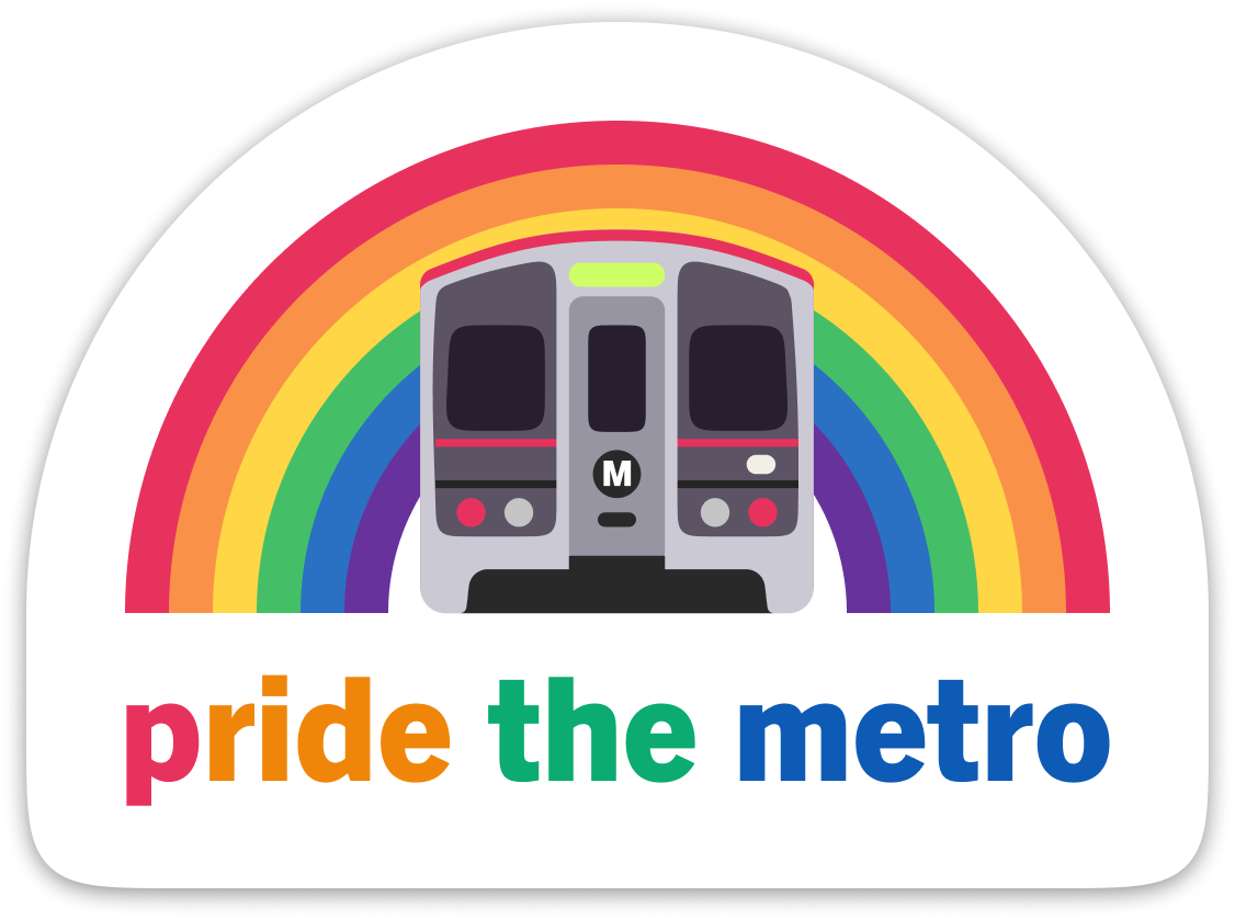 Pride the Metro: L.A. Red Line Sticker