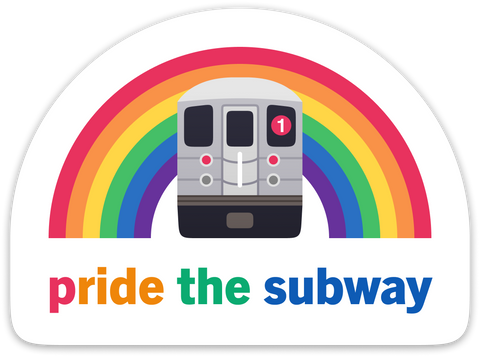 Pride the Subway: New York Sticker