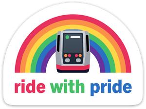 Ride with Pride Sticker