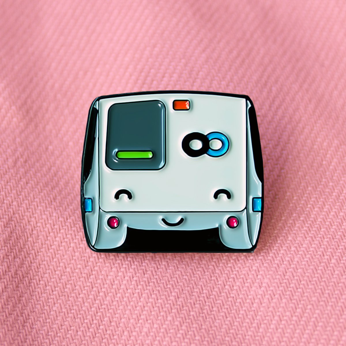 Happy BART Enamel Pin