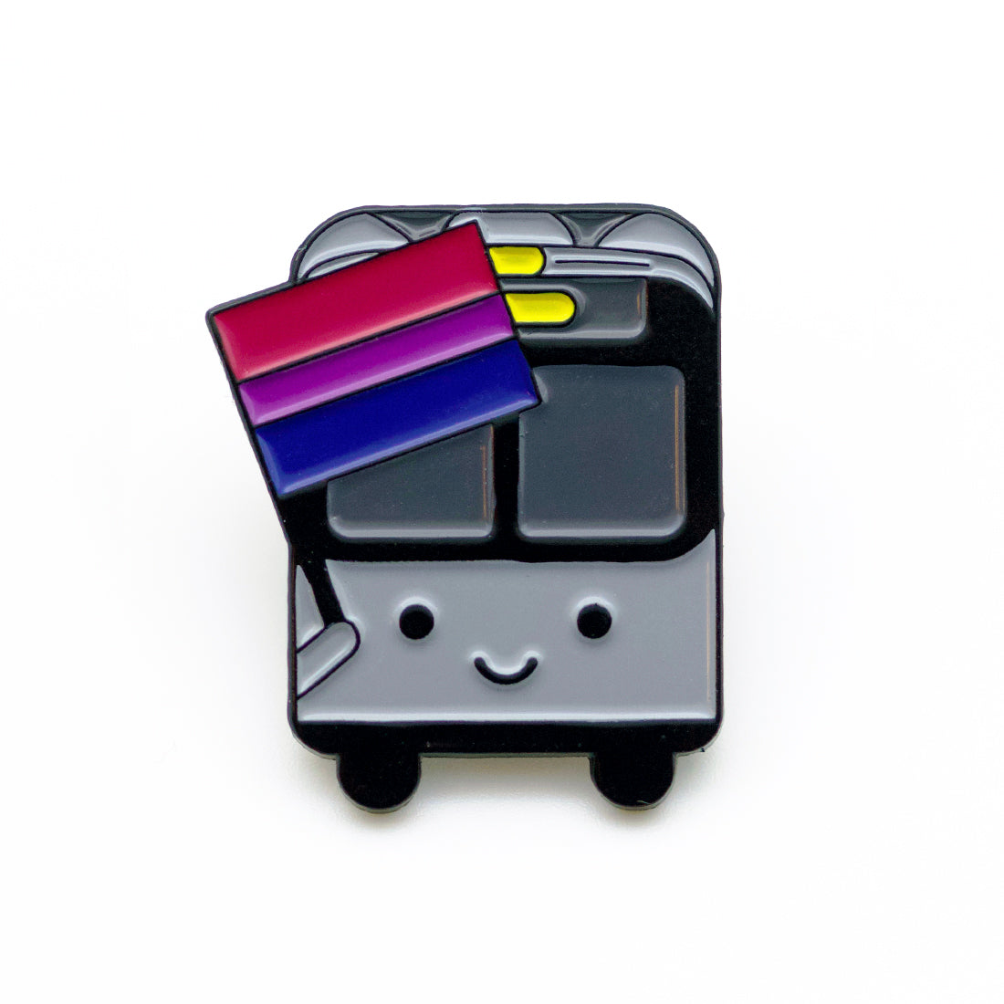 Bus with Bi Flag Pin