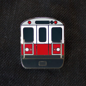 Boston MBTA Red Line Enamel Pin
