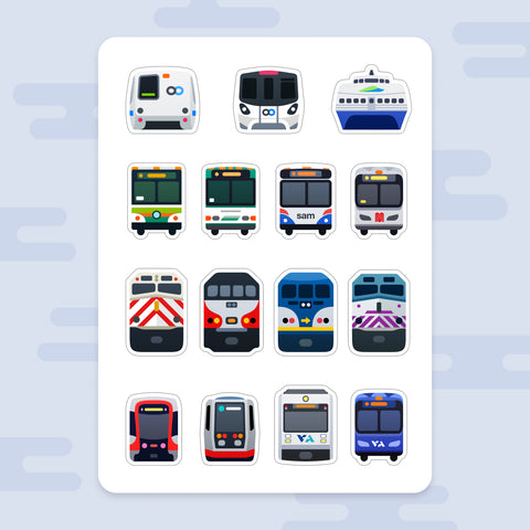 Sticker Sheet: Bay Area Commutes