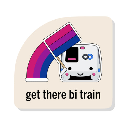 Get There Bi Train Sticker: BART