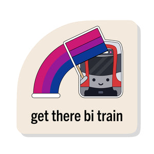 Get There Bi Train Sticker: Muni Metro