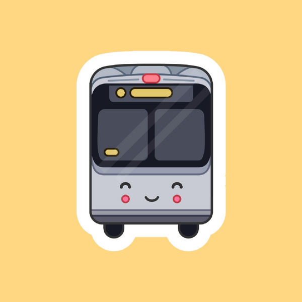 Happy Bus Sticker