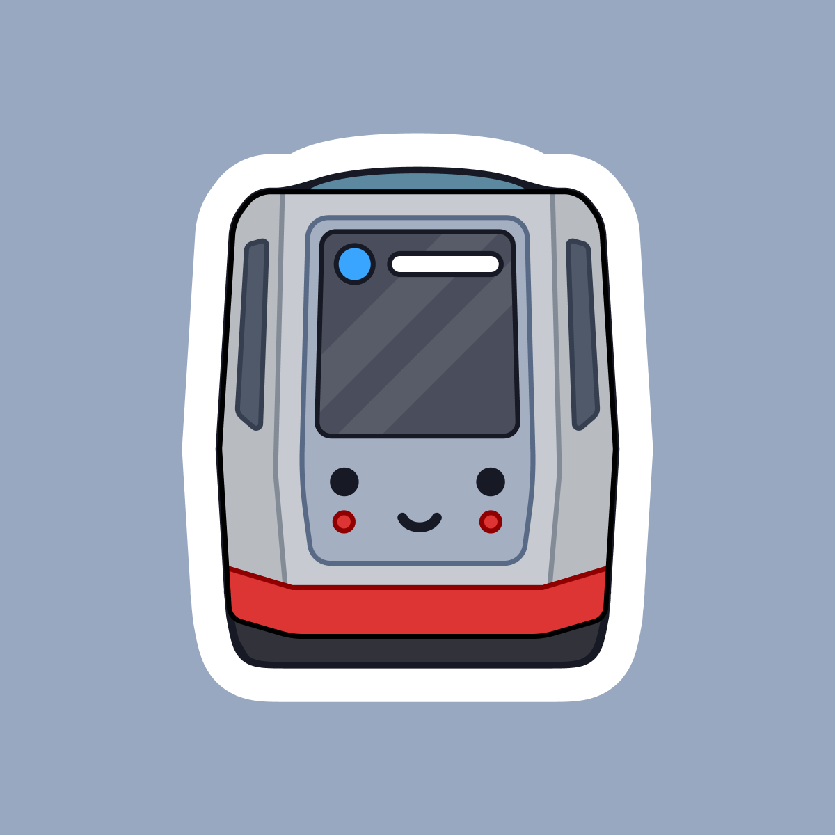 Happy Muni Metro Train Sticker