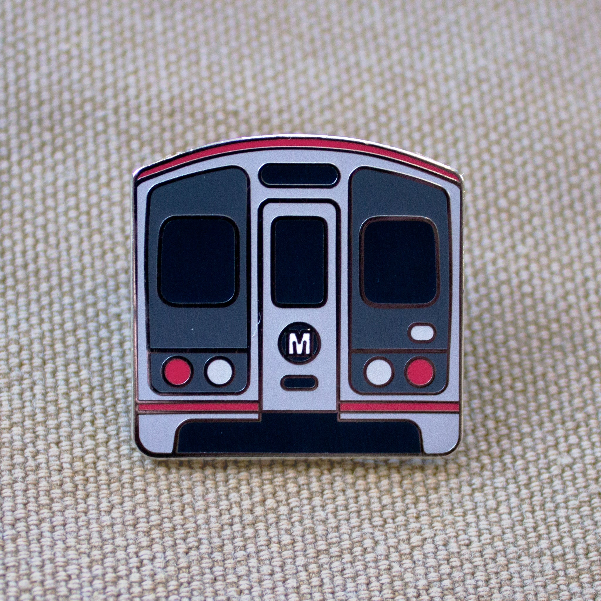 Los Angeles Metro Red Line Enamel Pin
