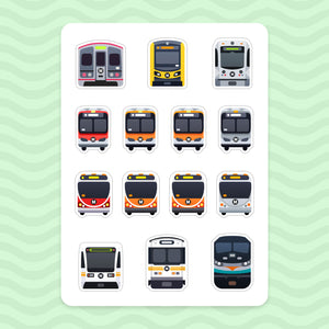 Sticker Sheet: Los Angeles Transit