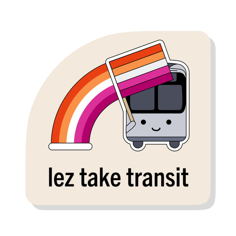Lez Take Transit Sticker: Bus