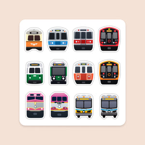 Magnet Sheet: Boston Transit