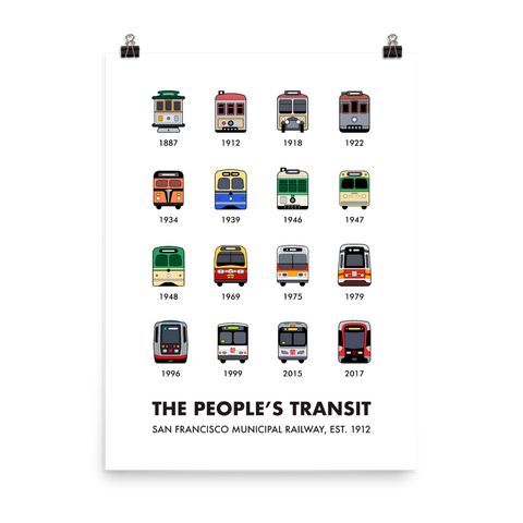 San Francisco – The People's Transit Print
