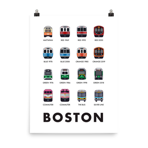 Boston Transit Fleet 18x24 Print
