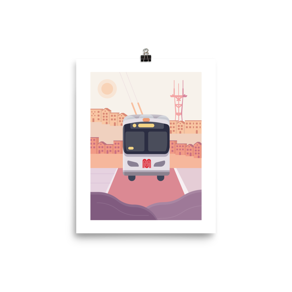 San Francisco Bus Print