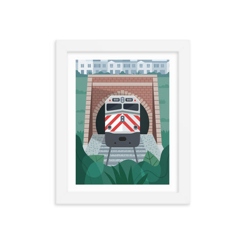 Caltrain Tunnel Print (Framed)