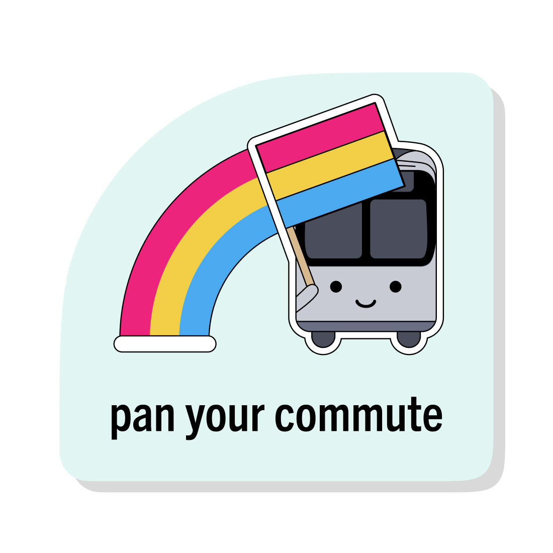 Pan Your Commute Sticker
