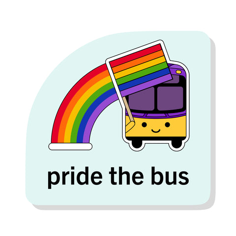 Pride the Bus Sticker: Seattle