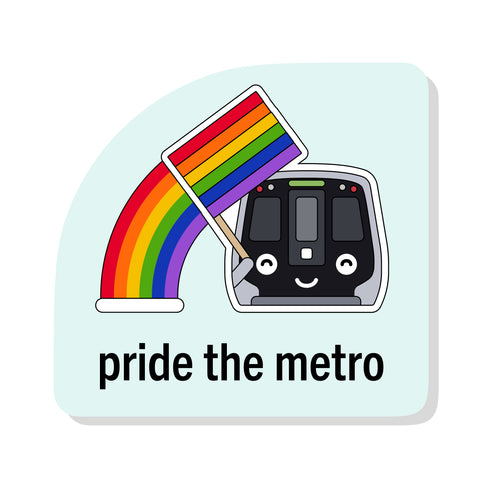 Pride the Metro Sticker: DC Metro