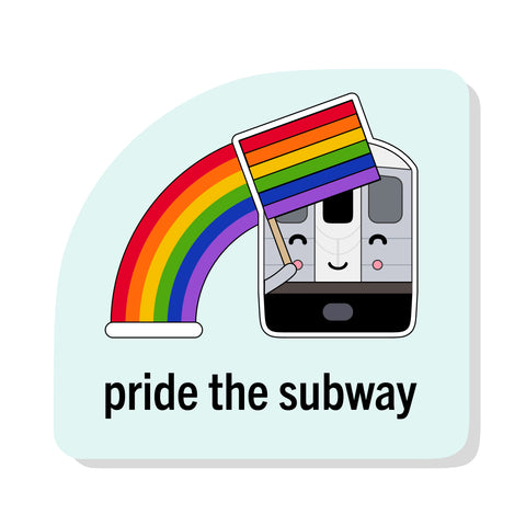 Pride the Subway Sticker