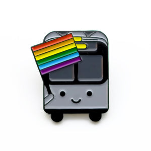 Bus with Rainbow Flag Pin