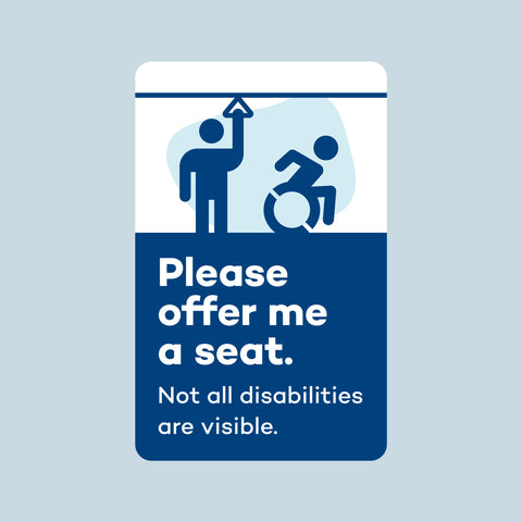 "Transit Card Sticker: ""Please Offer Me a Seat"""