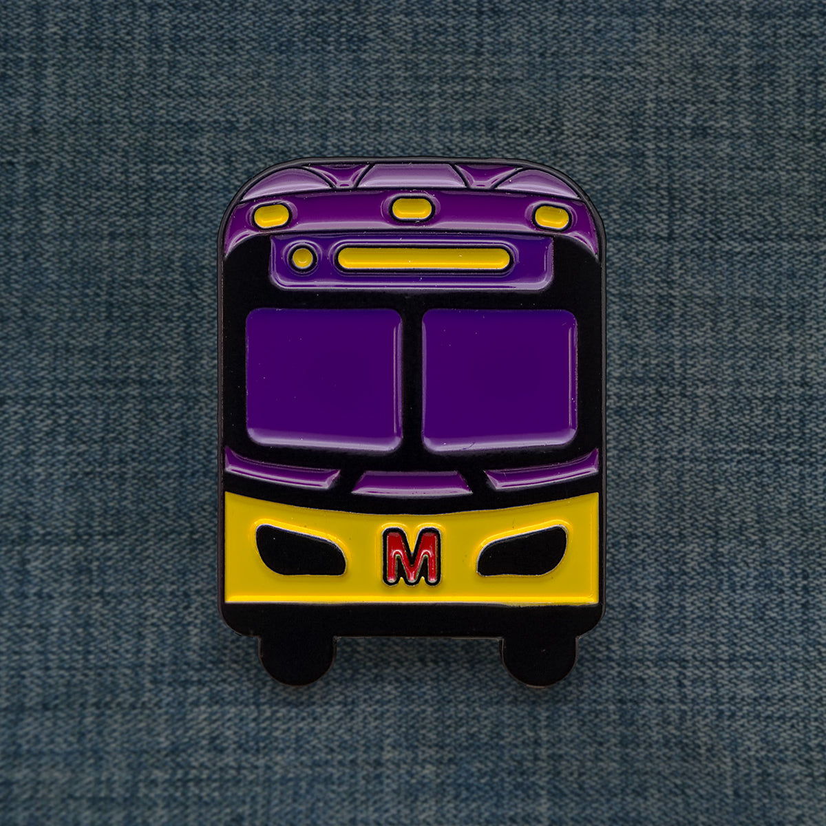 Seattle Purple Bus Pin