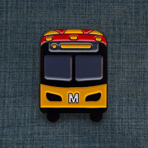 Seattle Red/Orange Bus Pin