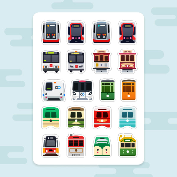 Sticker Sheet: San Francisco Transit
