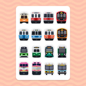 Sticker Sheet: Boston Transit
