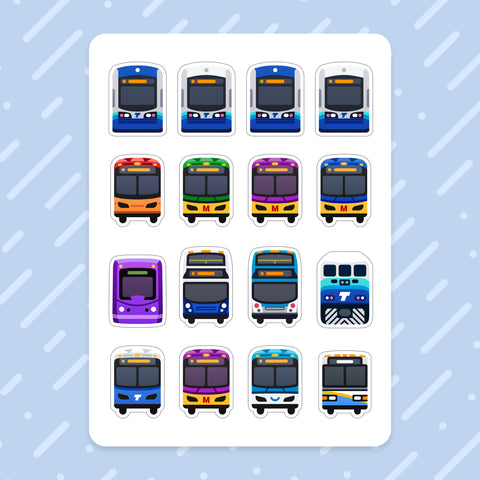 Sticker Sheet: Seattle Transit