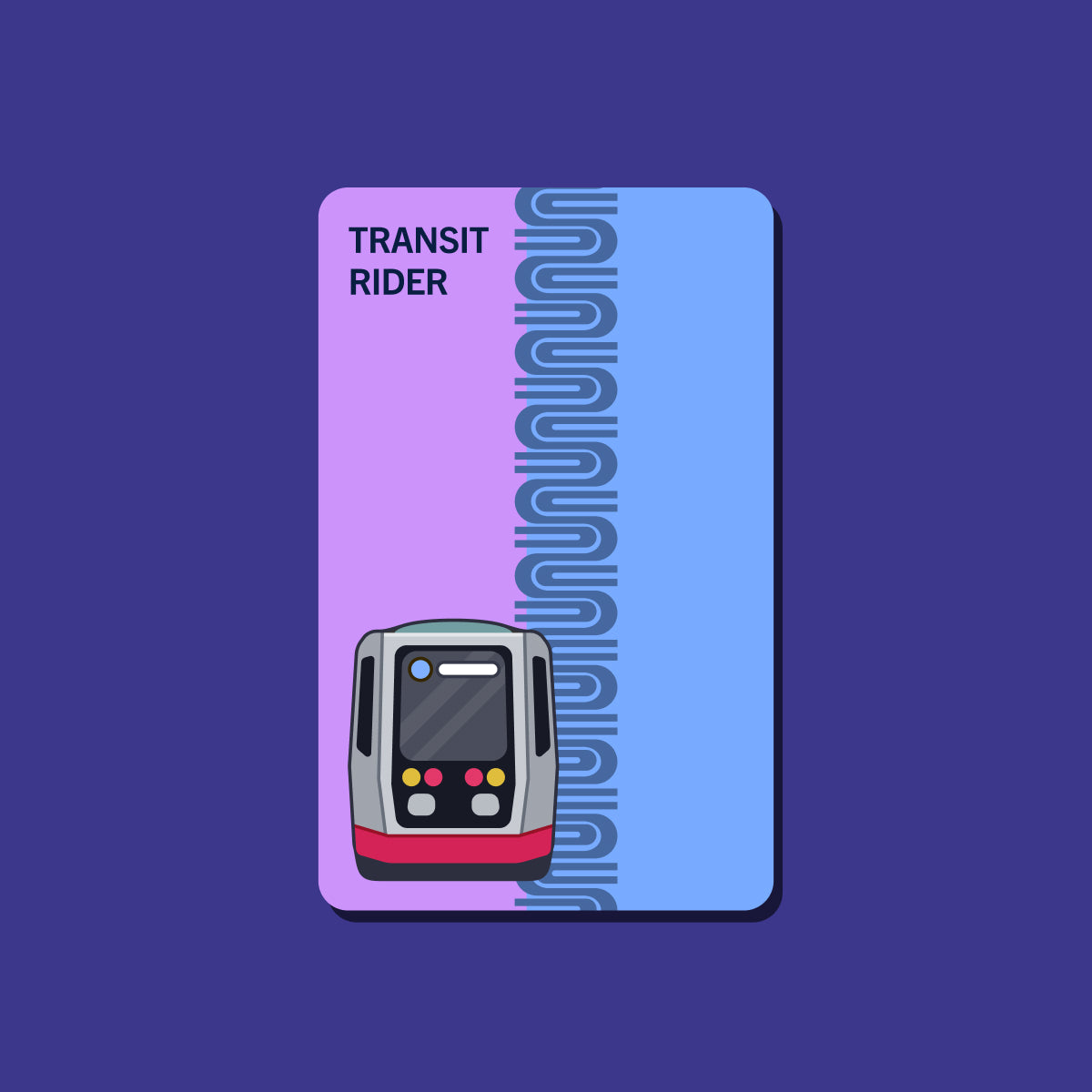 2000's Muni Fast Pass Transit Card Sticker