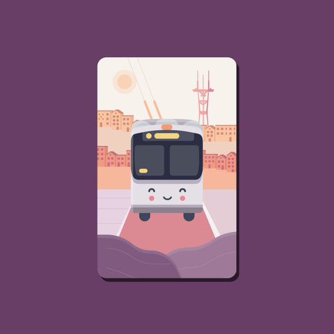 Happy Bus Transit Card Sticker