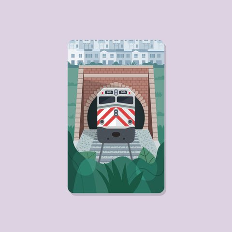 Caltrain Transit Card Sticker