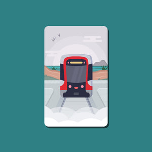 Ocean Beach Muni Transit Card Sticker
