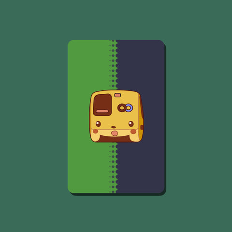 Surprised Pikachu BART Transit Card Sticker