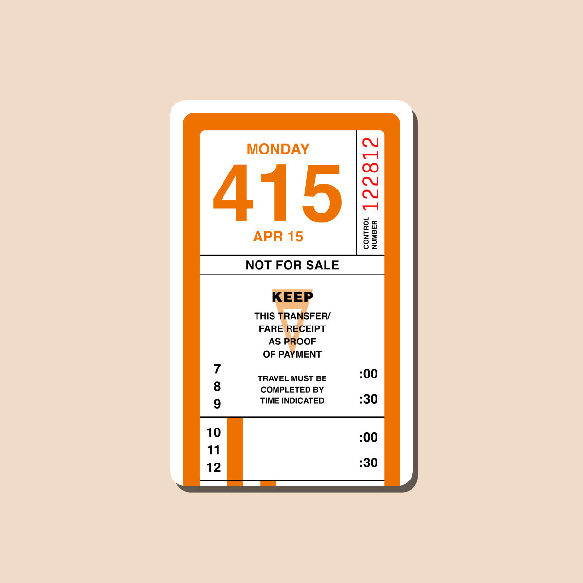 Retro Muni Transfer Transit Card Sticker