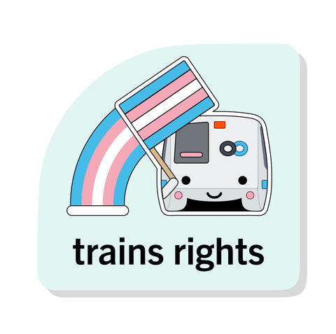 Train's Rights Sticker: BART