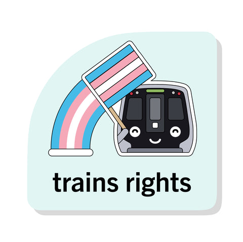 Train's Rights Sticker: DC Metro