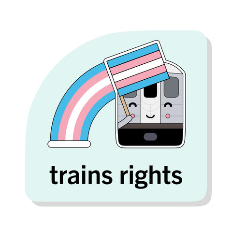 Train's Rights Sticker: NYC