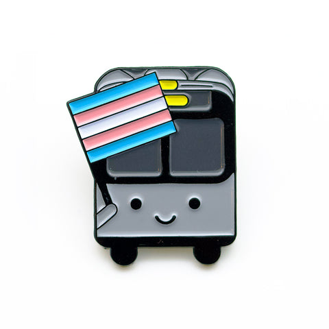 Bus with Trans Flag Pin