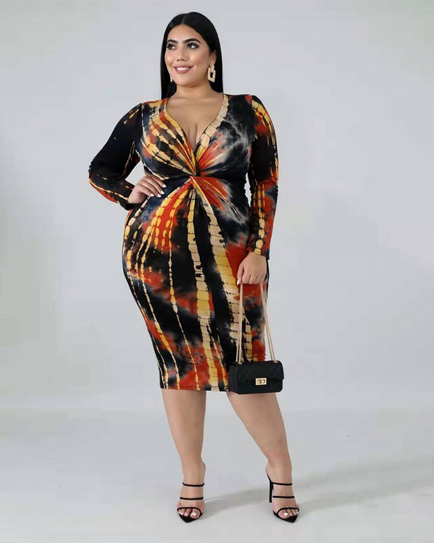 Twist Rustic Plus Size Midi Dress