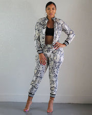 Snakeskin Prints Two Piece Suit