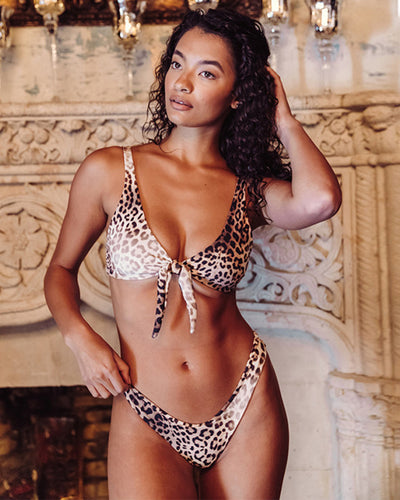 It's A Simple Life Leopard Print Bikini