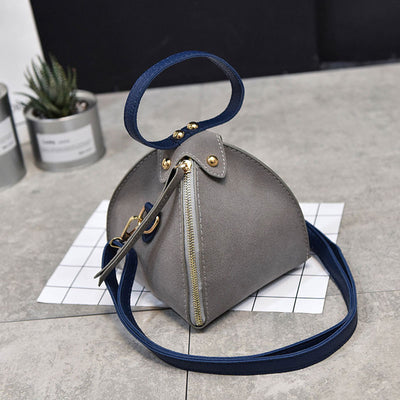 Frosted Triangle Clutch Bag