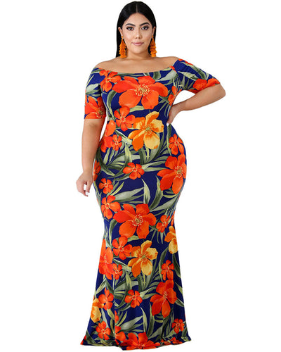 Elegant Lady Plus Size Bodycon Maxi Dress