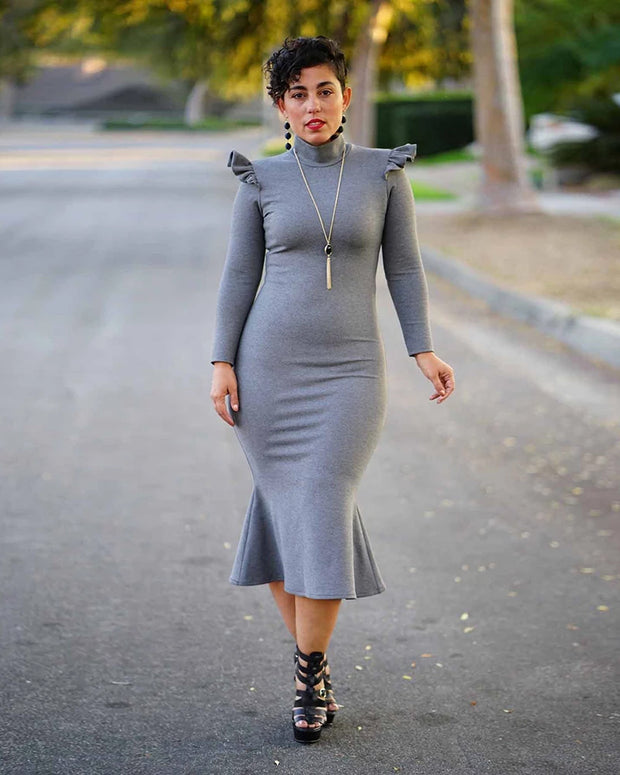 In Haute Pursuit Grey Dress