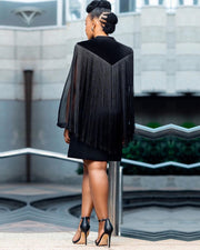Ready Willing Tassel Black Dress