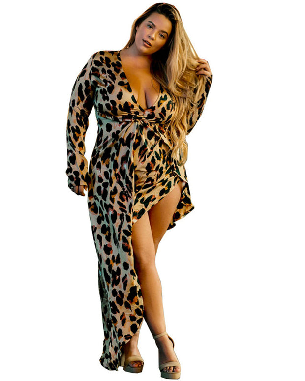 Plus Heart Of A Huntress Leopard Print Dress